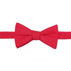 Red Hopsack Linen Self Tie Thistle Bow Tie