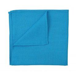 Turquoise Blue Hopsack Linen Pocket Square
