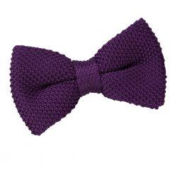 Cadbury Purple Knitted Pre-Tied Thistle Bow Tie