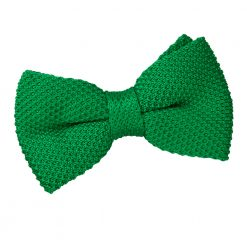 Forest Green Knitted Pre-Tied Thistle Bow Tie