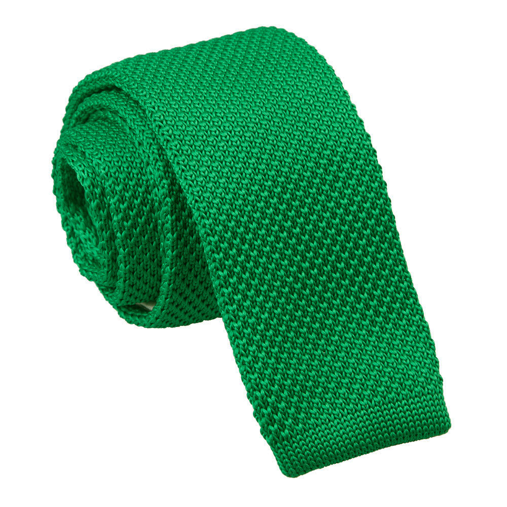Forest Green Knitted Skinny Tie James Alexander