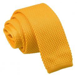Marigold Yellow Knitted Skinny Tie