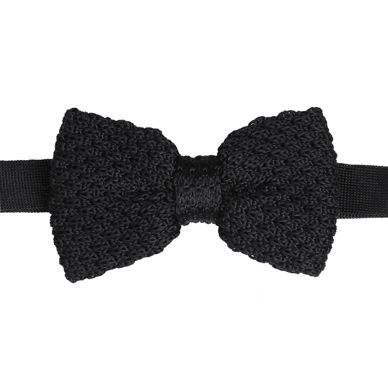 a60aa8f64636 Black Grenadine Silk Knitted Pre-Tied Bow Tie - James Alexander