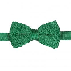 Emerald Green Grenadine Silk Knitted Pre-Tied Bow Tie