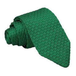 Emerald Green Grenadine Silk Knitted Slim Tie
