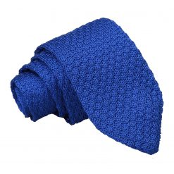 Royal Blue Grenadine Silk Knitted Slim Tie