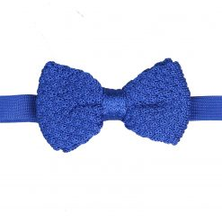 Royal Blue Grenadine Silk Knitted Pre-Tied Bow Tie
