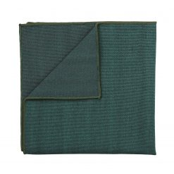 Bottle Green Ottoman Wool Pocket Square