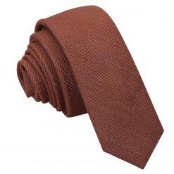 Brown Ottoman Wool Skinny Tie