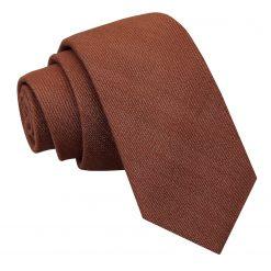 Brown Ottoman Wool Slim Tie