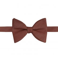 Brown Ottoman Wool Self Tie Butterfly Bow Tie