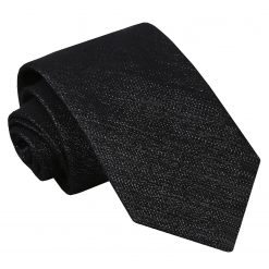 Charcoal Grey Ottoman Wool Classic Tie