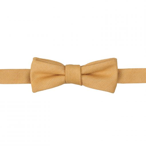 Honey Gold Ottoman Wool Self Tie Batwing Bow Tie