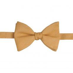 Honey Gold Ottoman Wool Self Tie Butterfly Bow Tie