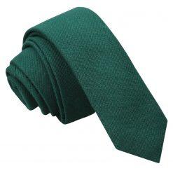 Hunter Green Ottoman Wool Skinny Tie