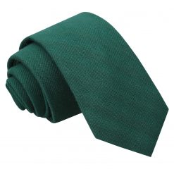 Hunter Green Ottoman Wool Slim Tie