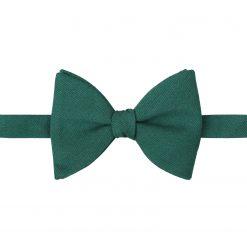 Hunter Green Ottoman Wool Self Tie Butterfly Bow Tie