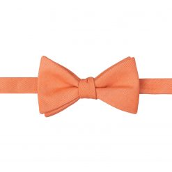 Light Orange Ottoman Wool Self Tie Thistle Bow Tie