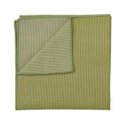 Olive Green Ottoman Wool Pocket Square