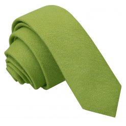 Olive Green Ottoman Wool Skinny Tie