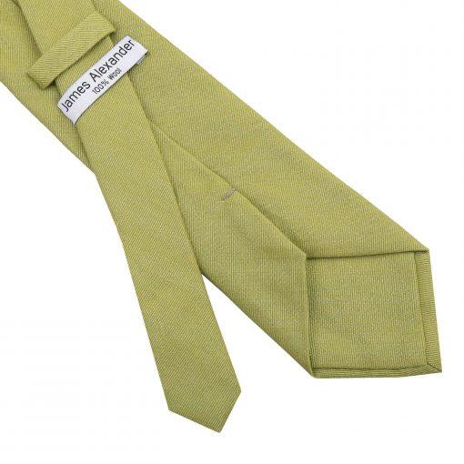 Olive Green Ottoman Wool Classic Tie