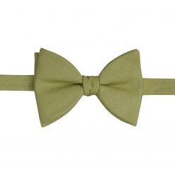Olive Green Ottoman Wool Self Tie Butterfly Bow Tie