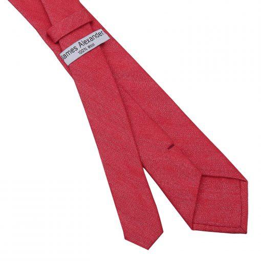 Watermelon Red Ottoman Wool Slim Tie