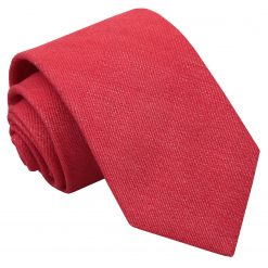 Watermelon Red Ottoman Wool Classic Tie