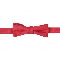 Watermelon Red Ottoman Wool Self Tie Batwing Bow Tie