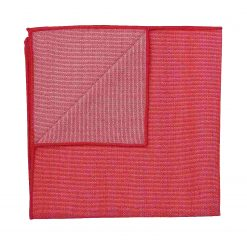 Watermelon Red Ottoman Wool Pocket Square