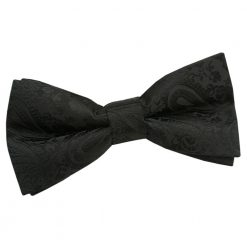 Black Paisley Pre-Tied Thistle Bow Tie