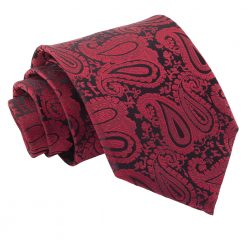 Burgundy Paisley Classic Tie
