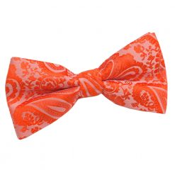 Burnt Orange Paisley Pre-Tied Thistle Bow Tie