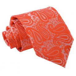 Burnt Orange Paisley Classic Tie