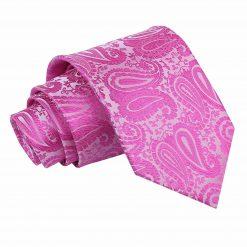 Fuchsia Pink Paisley Classic Tie
