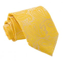 Gold Paisley Classic Tie