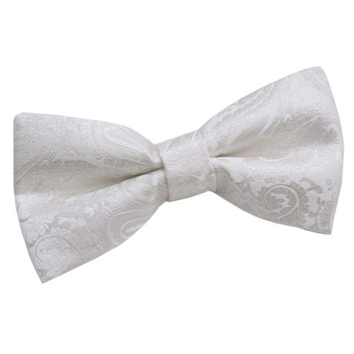 Ivory Paisley Pre-Tied Thistle Bow Tie