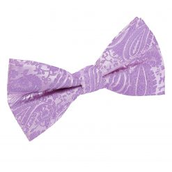 Lilac Paisley Pre-Tied Thistle Bow Tie
