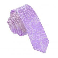 Lilac Paisley Skinny Tie
