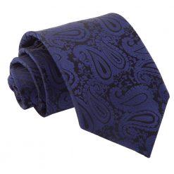 Navy Blue Paisley Classic Tie
