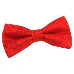 Red Paisley Pre-Tied Thistle Bow Tie