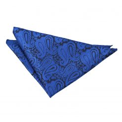 Royal Blue Paisley Pocket Square