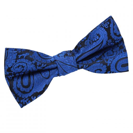 Royal Blue Paisley Pre-Tied Thistle Bow Tie