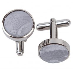 Silver Paisley Silver Plated Cufflinks