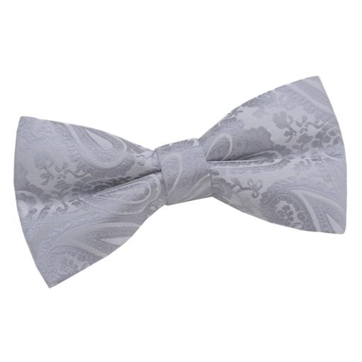 Silver Paisley Pre-Tied Thistle Bow Tie