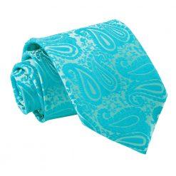 Turquoise Paisley Classic Tie