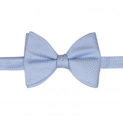 Light Blue Panama Silk Self Tie Butterfly Bow Tie