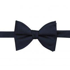 Navy Blue Panama Silk Self Tie Butterfly Bow Tie