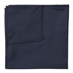 Navy Blue Panama Silk Pocket Square