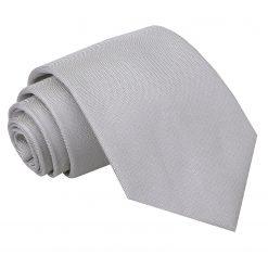 Silver Panama Silk Classic Tie